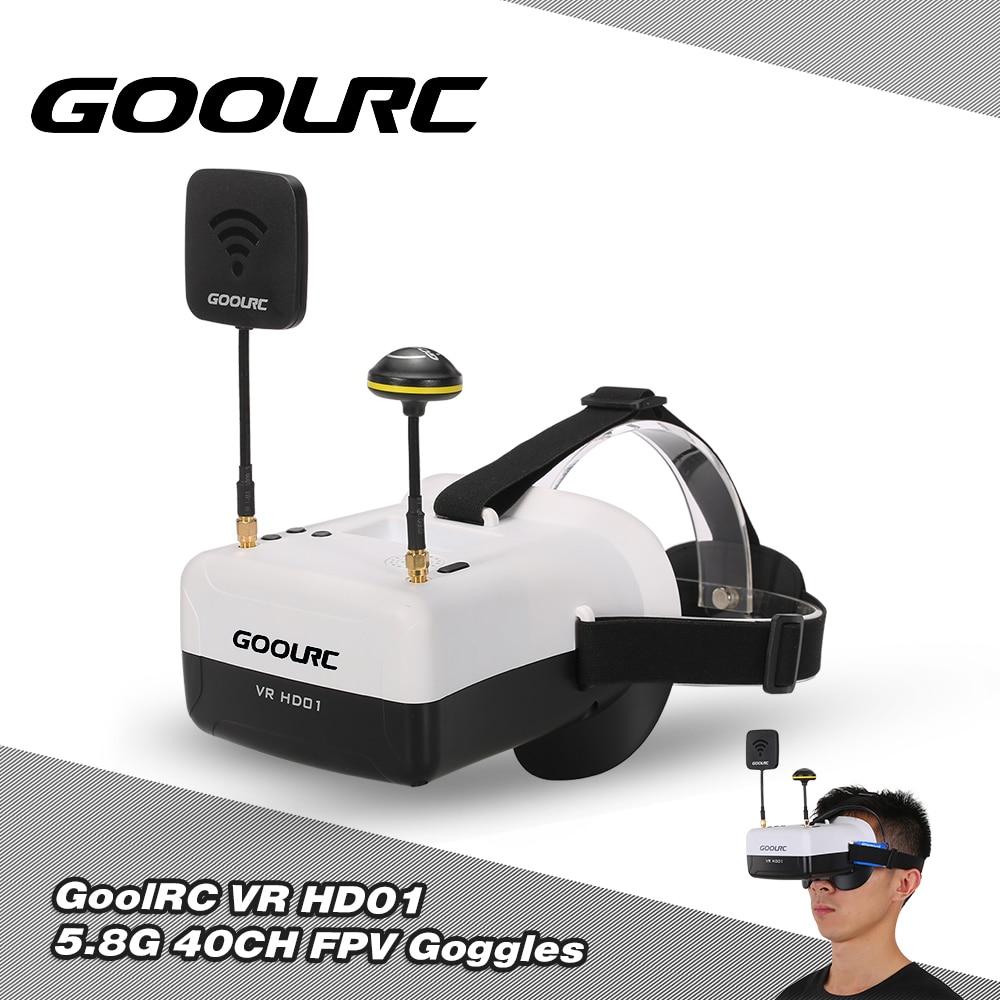 GOOLRC VR Glasses HD 01 5.8G 40CH Duo Antennas FPV Goggles Video Glasse for QAV250 FPV Drone H501S QX95 NH-010 Quadcopters wdiy for qav250  fpv drong    machine