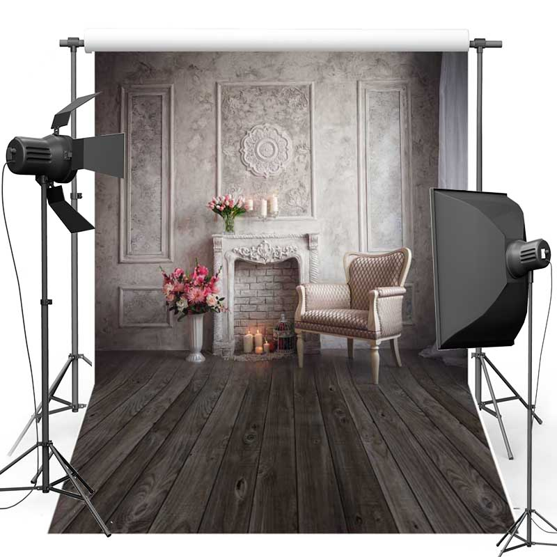 MEHOFOTO Interior House Vinyl Photography Background Wood Floor New Fabric Flannel Backdrops for photo studio Customize S2009
