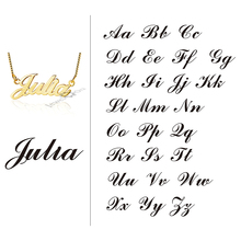 Commemorate Name Necklace With Box Chain