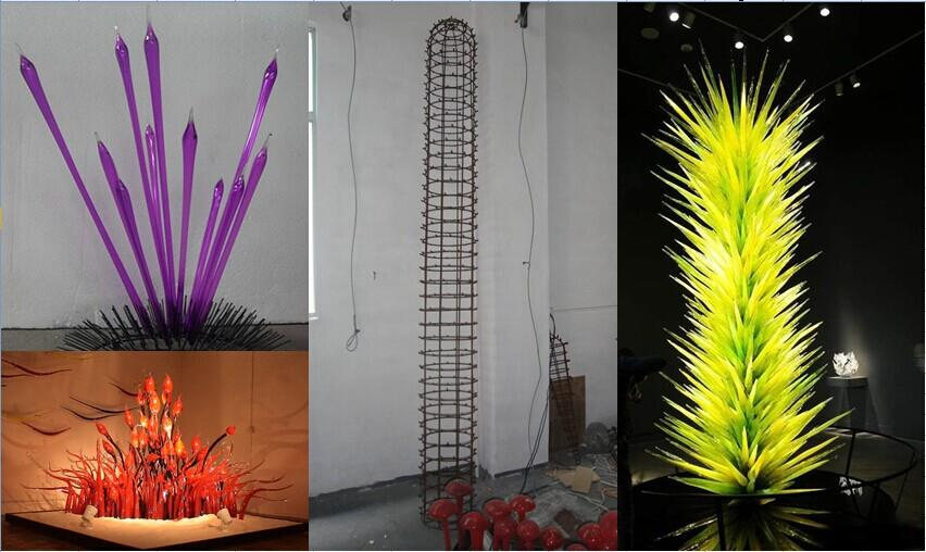 Moderne tuin art deco glas sculptuur dale chihuly pure witheid