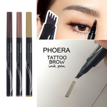PHOERA 3D Microblading Eyebrow Tattoo ปากกา 4 ส้อมเคล็ดลับ Fine Sketch Natural Brow Waterproof Long-lasting Eyebrow Tint TSLM2(China)