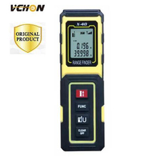 Big discount VCHON yellow 40M portable laser range finder tools to measure digital range finder electronic measuring instruments