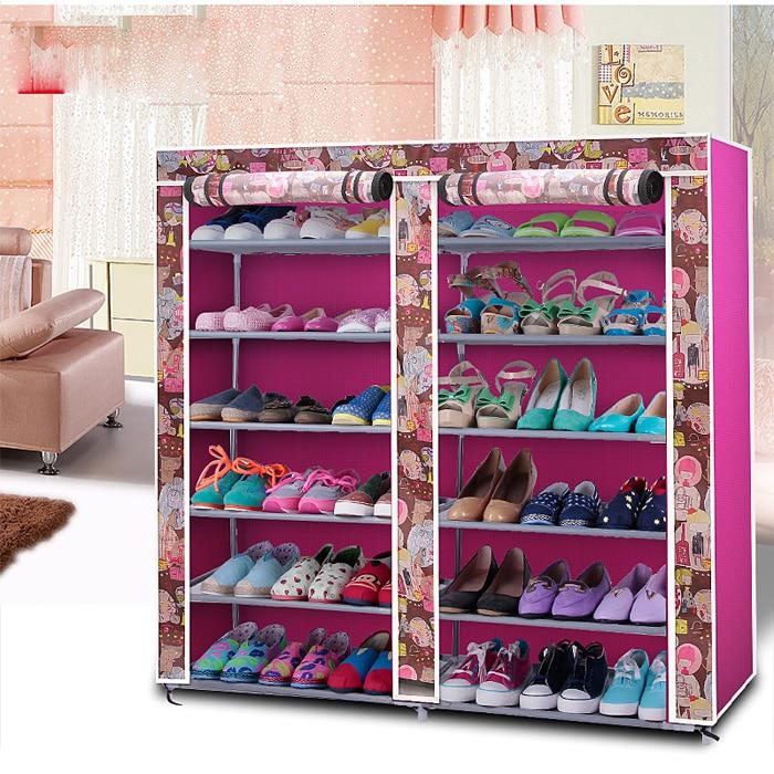 Simple modern minimalist cloth shoe storage multilayer for Minimalist living storage