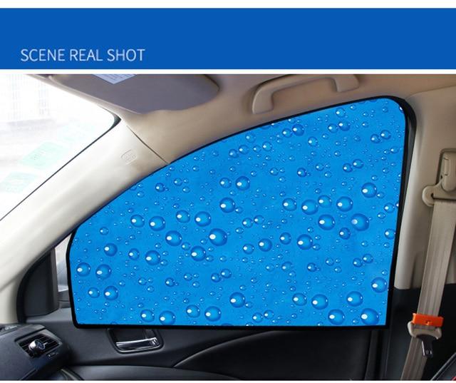 Single-Layer UV Solar Sun Protection Retractable Magnetic Car Curtains Side Visor Summer Sunshade Window Protector Baby 5