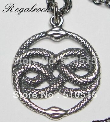 Regalrock Neverending story Bastian Bux Orin The Aurin Atreyu Infinite Snake Pendant Necklace