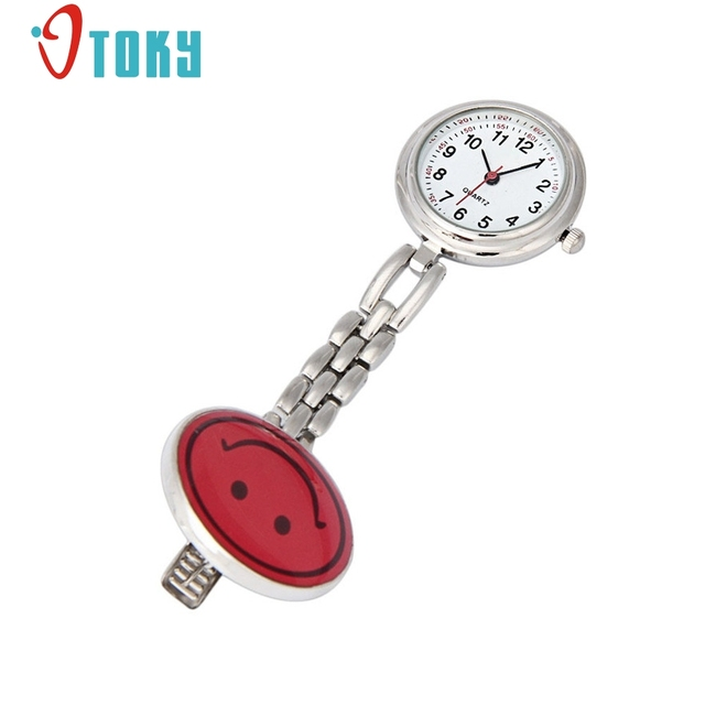 OTOKY Cute Nurse Portable Smiling Face Design Pocket Watches women relogio femin