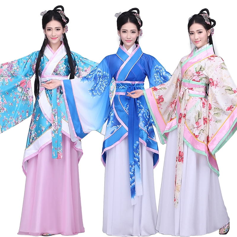 2017 Chinese ancient costume Original design folkemusik cosplay kostumer til kvinder