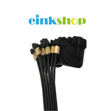 einkshop 6pcs UV Ink Damper +screw oring +1meter 6 line ink tube 3x1.8mm  For Epson R330 R290 T50 L800 flatbed printer