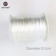 Lets make cordón de nailon satinado perfecto para la dentición o collares sensoriales, cordón de dentición de silicona segura y Natural, 4 unidades