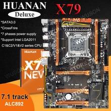 Hot selling HUANAN Deluxe X79 font b motherboard b font LGA2011 3 PCI E x16 slots
