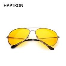 Фотография HAPTRON Yellow Sunglasses Women Men  Night Vision  Goggles Driving Glasses Driver Aviation Sun Glasses UV400