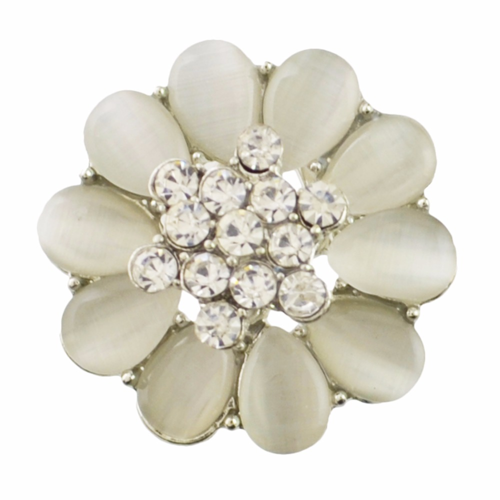 Idealway Wedding Bridal Brooches Pin Flower Rhinestone Scarf Clip Crystal Gift For Women Sweater Accessories Christmas Gift