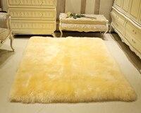 Натуральной овчины ковер с натуральным мехом Одеяло овчины ковров и ковровых покрытий для Гостиная меховой ковер коврик Tapetes Para Casa Sala