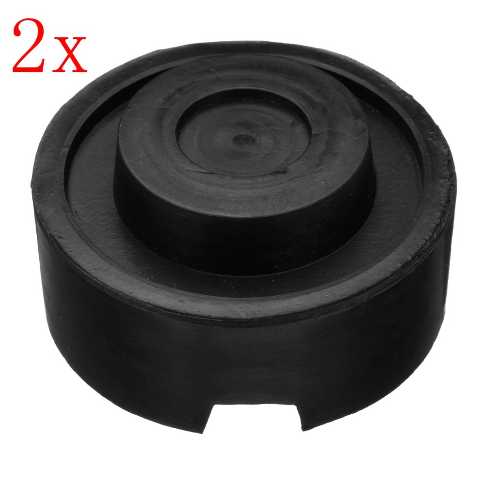 2pcs Car Anti-Slip Slotted Frame Rail Floor Jack Disk Rubber Pad for Pinch Weld Side Jac ...