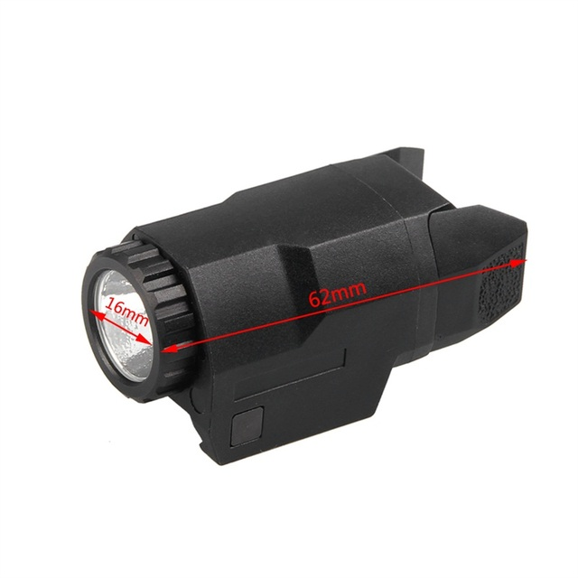 Glock WeaponLight Hunting Flashlight Airsoft Pistol Tactical Light APL-C 200 Lumens weapon Mounted for Glock Full Size Pistol