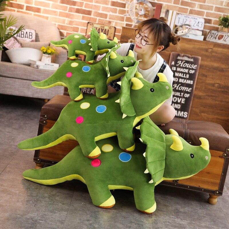 40-100cm Creative Big Plush Soft Triceratops Stegosaurus Plush Toy Dinosaur Doll Stuffed Toy Kids Dinosaurs Toy Birthday Gifts