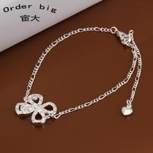 A010 // Promotion Factory Price 925 jewelry silver plated popular anklets Chain,wholesale fashion Foot Chain