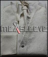 hot sale Men's microfiber ivory swirl  waistcoat 4pcs