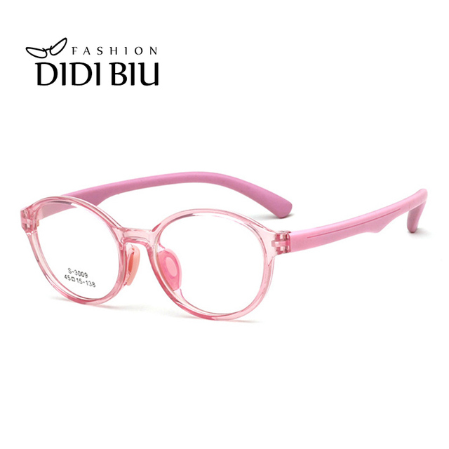 547bfa52b8 DIDI Pink Children TR90 Eyeglasses Frame Kids Optical Prescription Glasses  Frames Boys Girls Oval Vintage Myopia Eyewear CL985