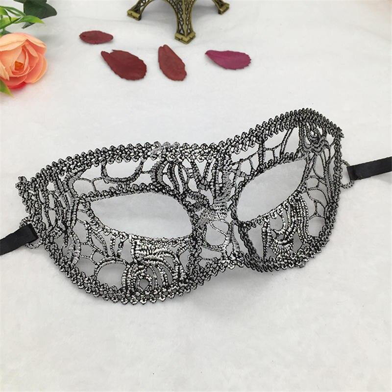 Серебряная горячая штамповка Дамская Сексуальная Маскарадная маска из кружева для карнавала, Хэллоуина, выпускного вечера, Вечерние Маски, маска для глаз#35 - Цвет: PM030TS