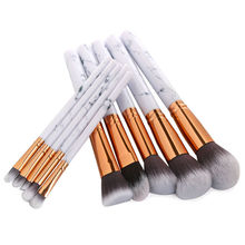 10Pcs Marbling Makeup Brushes Set