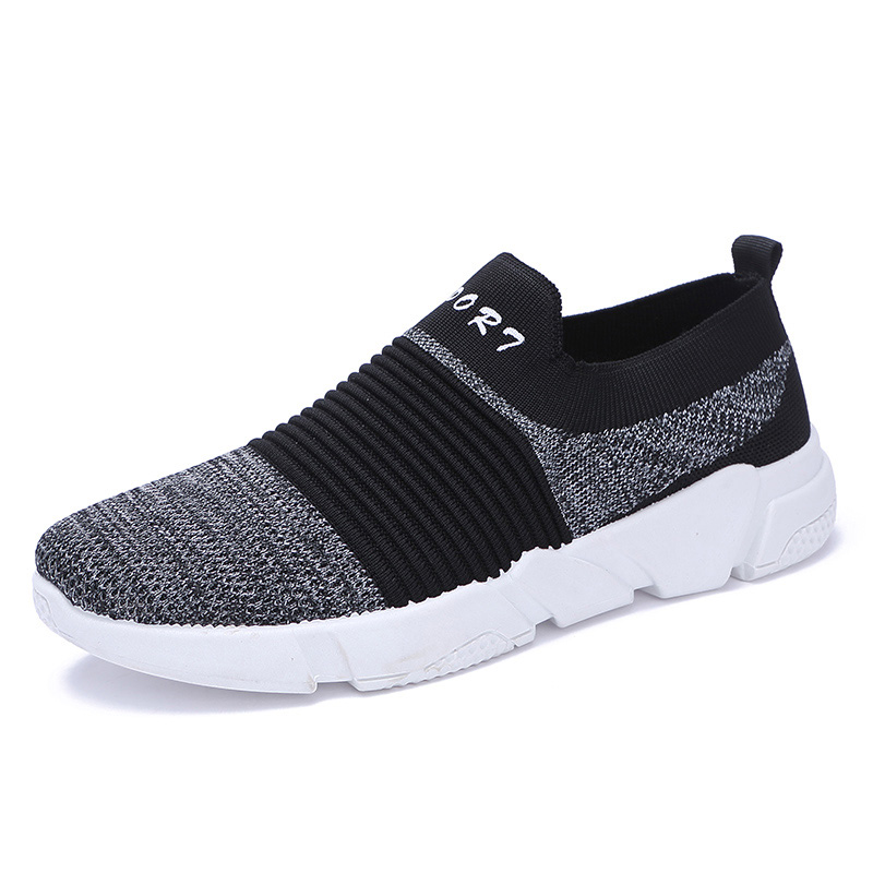 Pink Purple Slip Marche black Sneakers Hommes Confortable black De Léger Chaussures Green Black Appartements Orange Respirant Casual Gray Baskets Gray On black black Mesh 1FgqASFwC