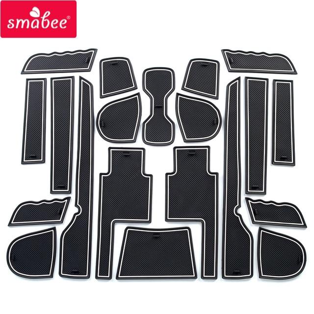 Almohadilla de Smabee para ranura de puerta para SSANGYONG TIVOLI 2015-2018 almohadilla interior de puerta/alfombrillas antideslizantes rojo y blanco