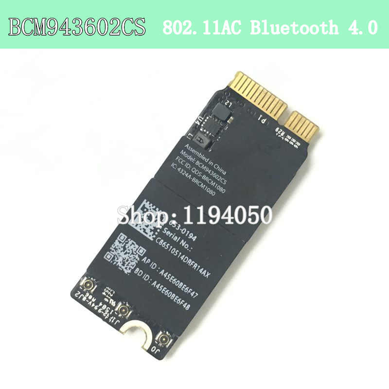 Broadcom BCM943602CS 1750 Mbps 802.11AC WiFi Adapter với Bluetooth 4.0 BCM43602CS A1425 A1502 A1398 WIFI THẺ WLAN