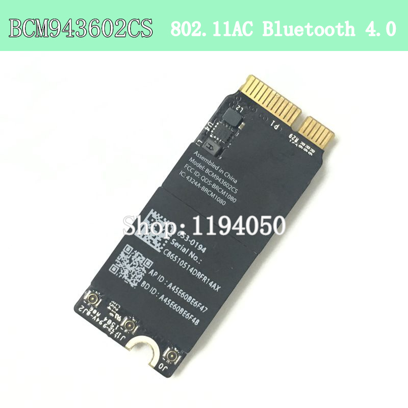 Broadcom BCM943602CS 1750Mbps 802.11AC WiFi Adapter with Bluetooth 4.0 BCM43602CS A1425 A1502 A1398 WIFI CARD WLANBroadcom BCM943602CS 1750Mbps 802.11AC WiFi Adapter with Bluetooth 4.0 BCM43602CS A1425 A1502 A1398 WIFI CARD WLAN