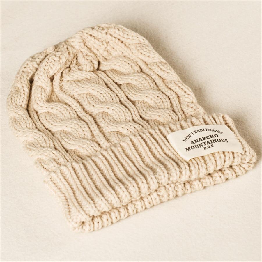 Fashion Women Winter Hat For Women Skullies Beanies Warm Knitted Hat Female Cotton Winter Cap Brand Women Beanie Hat A-209