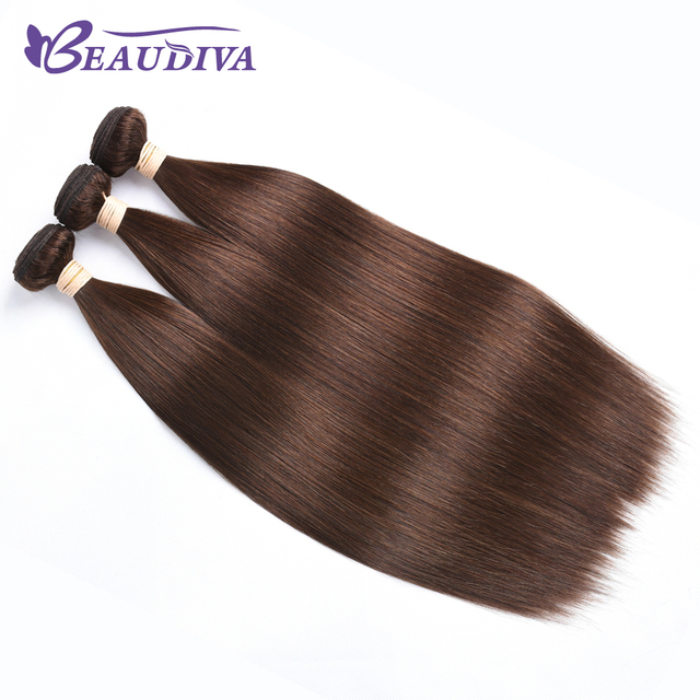 Beaudiva Pre Colored Human Hair Weave Peruvian Straight Hair Medium