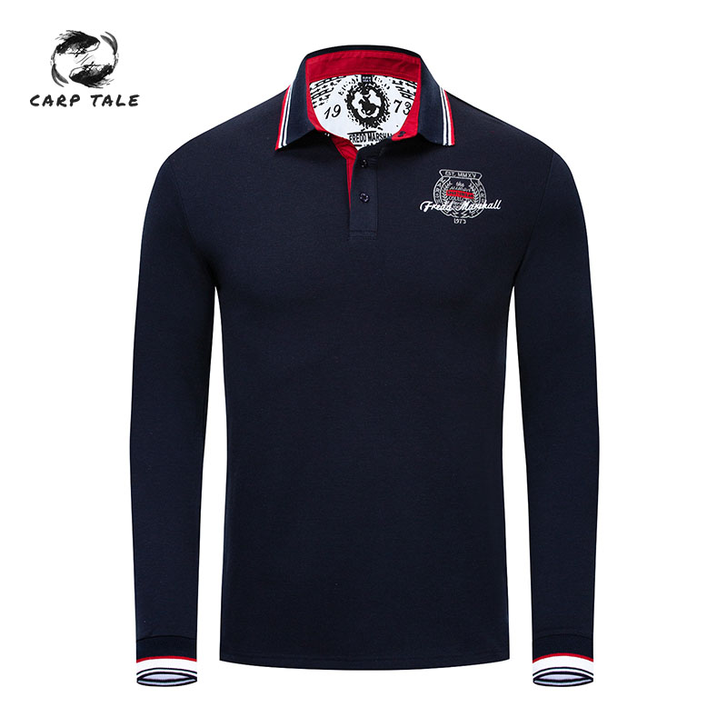 2019 men's European and American cotton   Polo   shirt new brand men's   Polo   shirt business casual