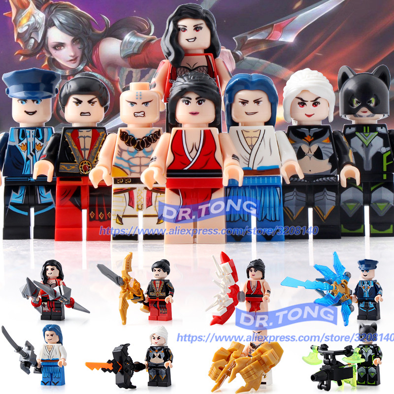 DR.TONG 80PCS Glory of Kings Figures One of China Romance the Three Kingdoms King Knight Heroes Building Blocks Toys Gifts 29001