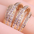 New Arrival Brand Zircon Copper Rings Joias Ouro Engagement Ring Luxurious Love Anel Feminino Bague Big Size Finger Bijoux