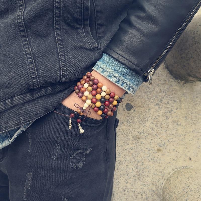 108 berbagai Cendana Tibet Buddha Doa Beads Gelang DIY Buddha Mala - Perhiasan fashion - Foto 3
