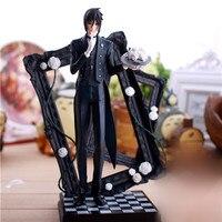 25cm Latest Black Butler Kuroshitsuji Sebastian Game Anime Action Figure PVC Toy