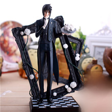 купить 25cm Latest Black Butler Kuroshitsuji Sebastian Game Anime Action Figure PVC Toy по цене 2488.01 рублей