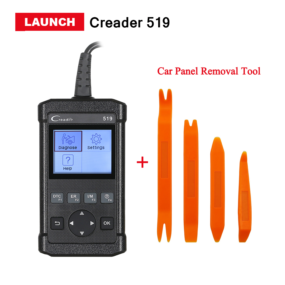 2017 Latest Launch CReader 519 OBD2/EOBD Code Reader scanner CR 519 CR 5001 Car Diagnostic Tool Same as AL519 free update online 100% original launch creader 519 odb obd2 scanner for obd2 can eobd jobd cars cr519 diagnostic tool free gift brake fluid tester