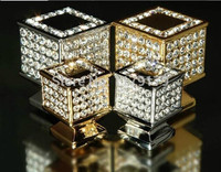 30mm Square Luxury Diamond K9 Crystal Wine Cabinet Shoe Cabinet Cupboard Drawer Wardrobe Furniture Handles