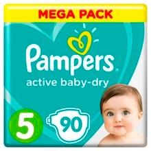 Подгузники Pampers Active Baby-Dry 11–16 кг, размер 5, 90 шт.