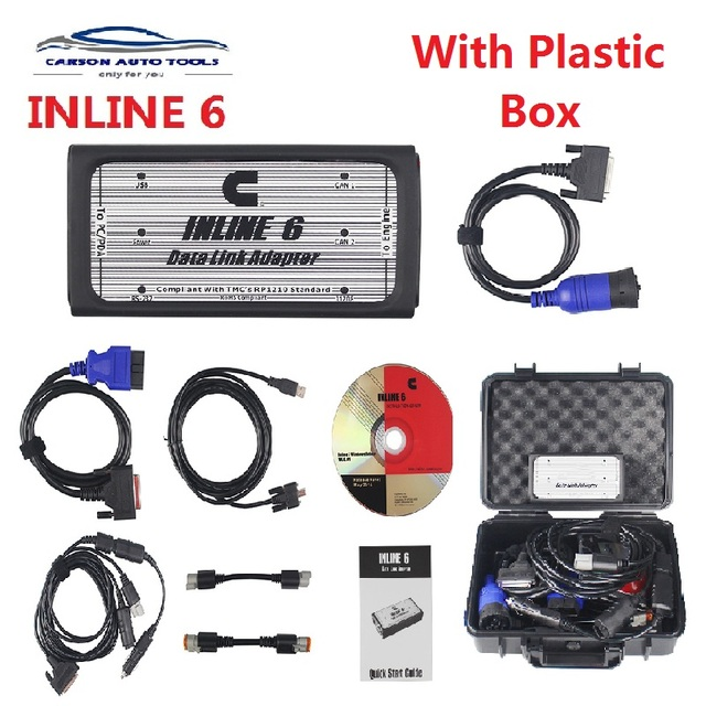 2019 A++quality INLINE 6 Data Link Adapter Heavy Duty scanners Full 8 cable Truck better than inline 5 Diagnostic Tools inline6