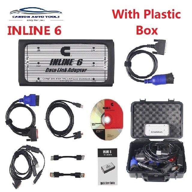 2020 + + איכות INLINE 6 נתונים קישור מתאם כבד החובה סורקים מלא 8 כבל משאית טוב יותר מ inline 5 אבחון כלים inline6