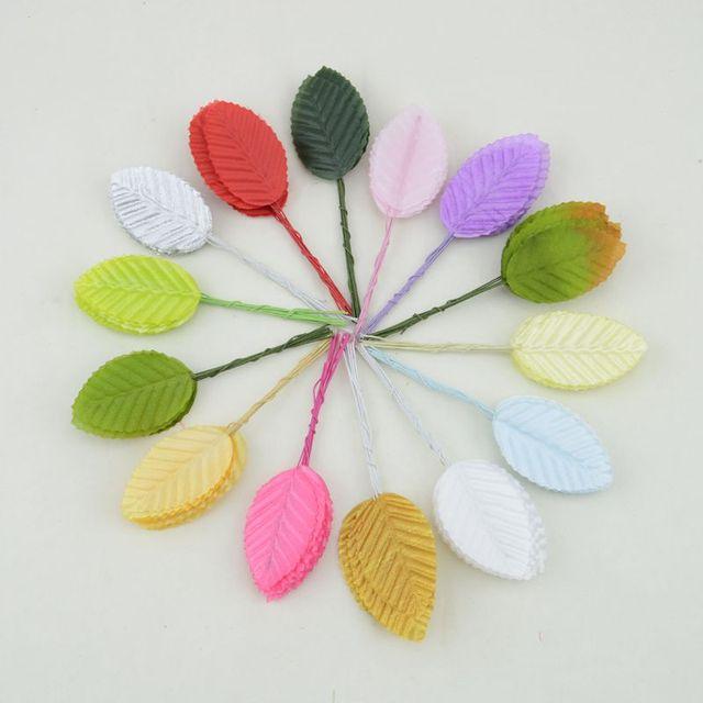 Buatan Daun Dan Bunga Kolase Dari Colorful Daun Simulasi Pernikahan Bunga Dekorasi Stoking Tinggi