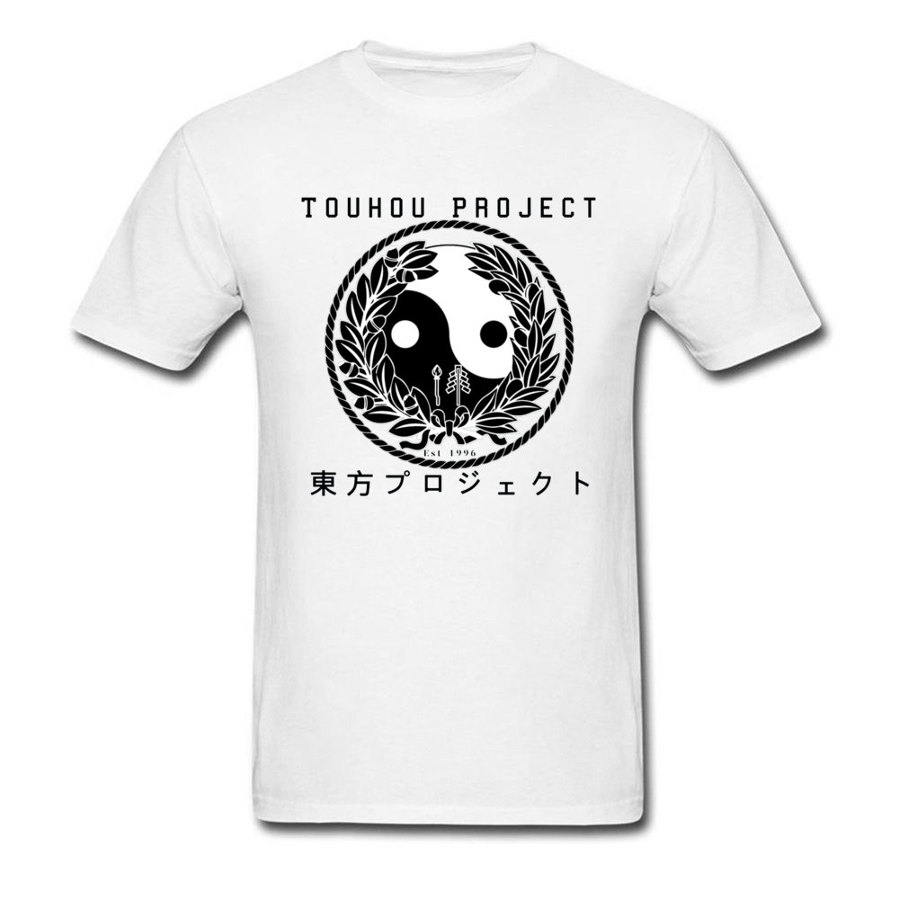 Touhou Project Game Yin Yang Design T Shirts SINGYOKU MIMA YUUGENMAGAN O Neck Mother Day Men's Cotton Classic Tshirts image