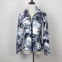 high elastic yoga jacket quick drying breathable gym clothes Print yoga shirt fitness