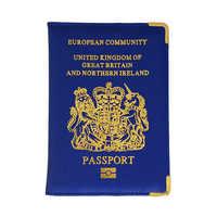 Funda de pasaporte del Reino Unido para mujer, funda de pasaporte rosa para chicas