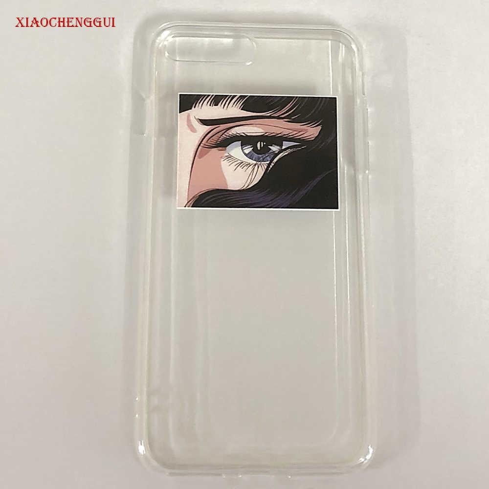 Jepang Anime Sailor Moon Mata Ponsel Case untuk iPhone 7 8 6 S 6 Puls X XR X Max Kasus TPU Transparan Soft Back Cover Coque Fundas