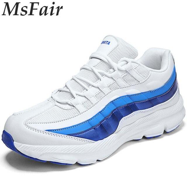 MSFAIR hombres zapatos deportivos al aire libre correr Deporte Zapatos para hombres transpirable Jogging hombre Zapatillas Hombre marca entrenadores