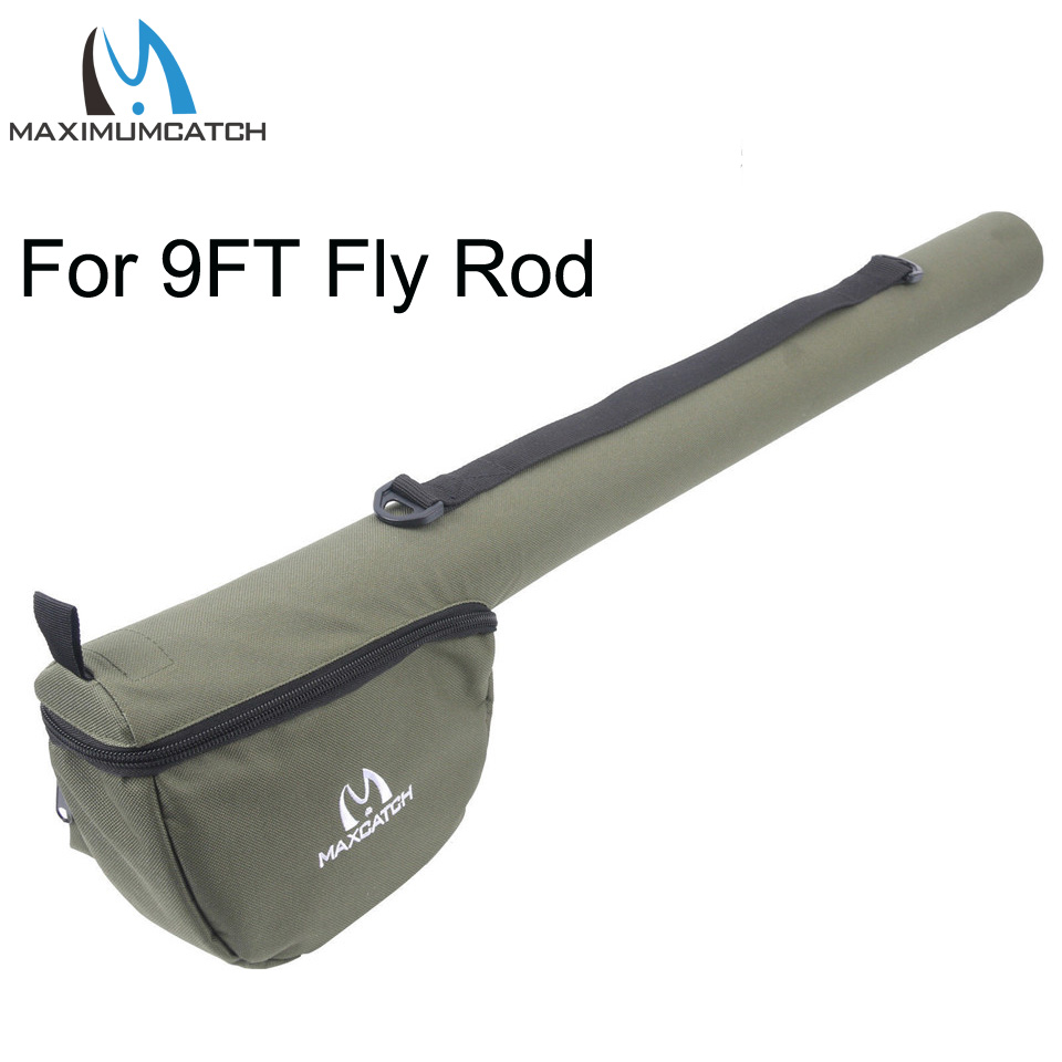 Maximumcatch Fly Fishing Rod Tube Triangle Fly Rod Case Cordura Storage Fly Rod Bag