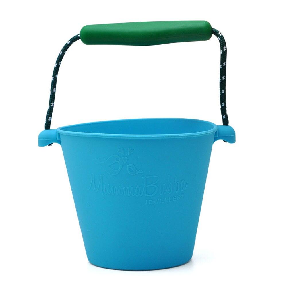 Пляжный набор игрушек для детей силиконовые складные Ручные игры песочный баррель детские игрушки для малышей душевая Ванна игрушка песочные водяные игрушки - Цвет: blue